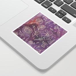 Purple Floral Sticker