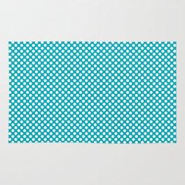 Scuba Blue and White Polka Dots Rug