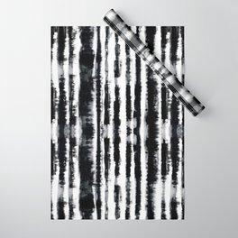 Tie-Dye Shibori Stripe BW Wrapping Paper