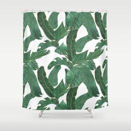 banana leaves pattern Shower Curtain