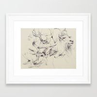 antlers Framed Art Prints featuring Antlers by Brian Jarrell