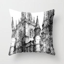 Collegiate Church of St Gertrude, Nivelles Throw Pillow