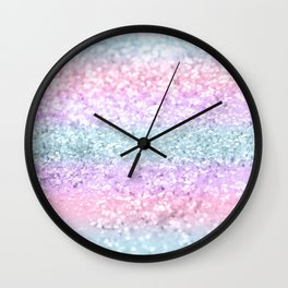 Unicorn Girls Glitter #11 #shiny #pastel #decor #art #society6 Wall Clock