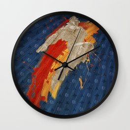 Fly (Homage To T. Hawk) Wall Clock