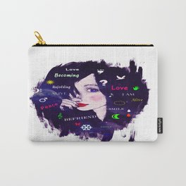 Thinking woman  Carry-All Pouch