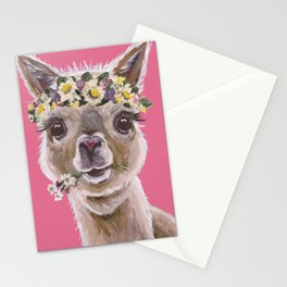 Alpaca Art, Alpaca Flower Crown Stationery Cards