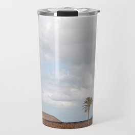 Lanzarote Palm tree landscape Travel Mug