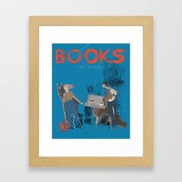 BOOKS FOR SCHOOLS Framed Art Print