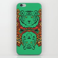 tigers iPhone & iPod Skins featuring Tigers by Ornaart