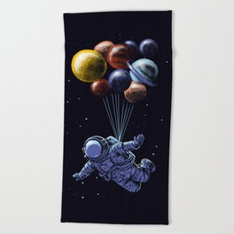 Space travel Beach Towel