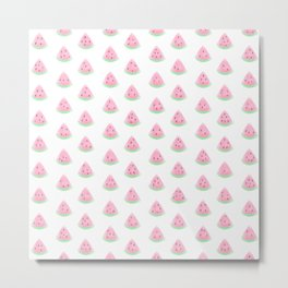 Watermelon Drop Pattern Metal Print