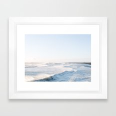 Golden shores - Iceland | ocean - landscape - photography - travel - winter - south coast - travel Framed Art Print
