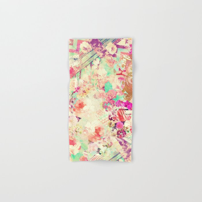 Flowers Mix Vintage Patchwork Hand & Bath Towel