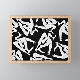 Picasso Pattern - Black and White Framed Mini Art Print