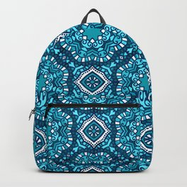 Moroccan Tile Pattern - Turquoise Backpack