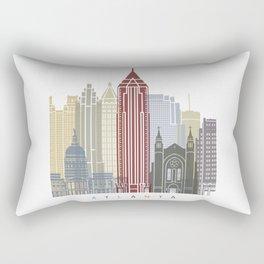 Atlanta skyline poster Rectangular Pillow