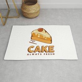 Cakes Cake Signage Poster Retro Rustic Rug