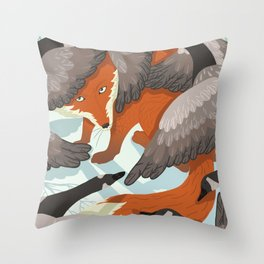 Smirre Fox Throw Pillow