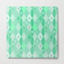 Green Lily Bear Metal Print