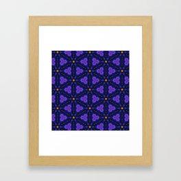 Cosmic Dreams seamless pattern Framed Art Print