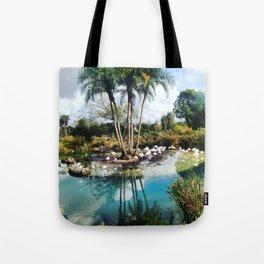 Flamingo Lagoon Tote Bag