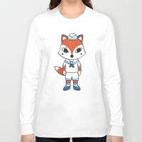 preppy Long Sleeve T-shirts featuring The Preppy Fox by moochi