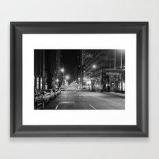 Madison Ave. 12:30am Framed Art Print