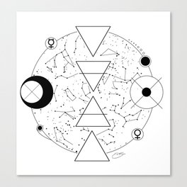 Celestial Alchemical Earth Canvas Print