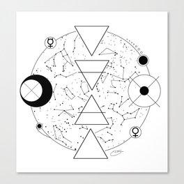 Celestial Alchemical Earth Canvas Print