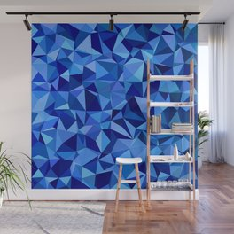 Blue tile mosaic Wall Mural
