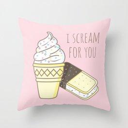 I scream for you Throw Pillow