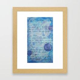 Lune Bleue No. 2 Framed Art Print