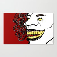 creepy Canvas Prints featuring Creepy by Raxa Russian Roulette