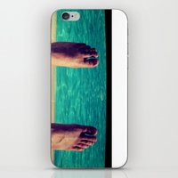 feet iPhone & iPod Skins featuring Feet by Devin Stout