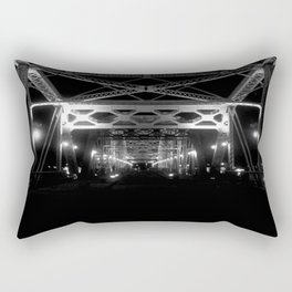 Nashville Nights - B&W Pedestrian Bridge Rectangular Pillow