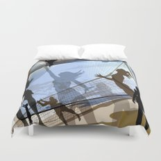 Anyone For Volleyball? Duvet Cover