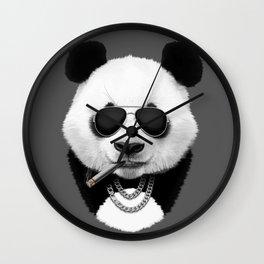 Panda in Sunglasses Wall Clock