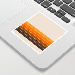Golden Spring Stripes Sticker