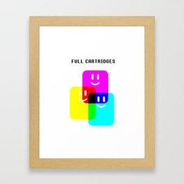CMYK Full Cartridges | Emoji Version Framed Art Print