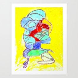 Faucet Blue Art Print