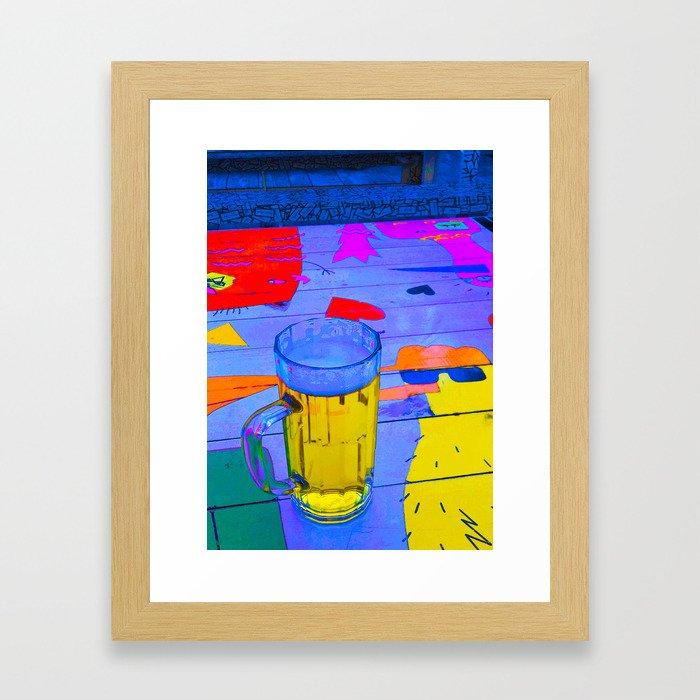 Beer in the aquarium Framed Art Print