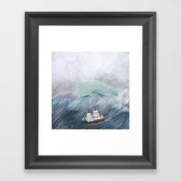 revenge of the whale Framed Art Print