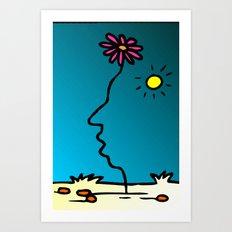 Flower face, Art Print