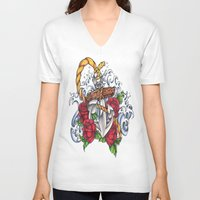 anchors V-neck T-shirts featuring Anchors Away by 'Til Death Designs