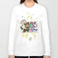 jojo Long Sleeve T-shirts featuring JoJo & Caesar JJBA Battle Tendency by Lemonade Stand Of Life