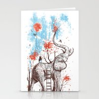 clouds Stationery Cards featuring A Happy Place by Norman Duenas