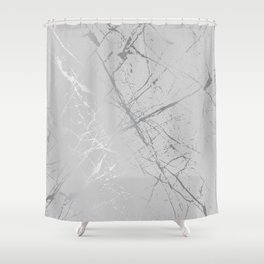 Silver Splatter 089 Shower Curtain