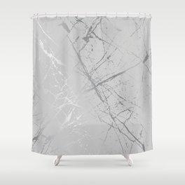 Silver Splatter 089 Shower Curtain
