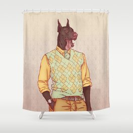 Rudolph the Great Dane Shower Curtain