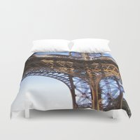 eiffel Duvet Covers featuring Eiffel by Mario Sa